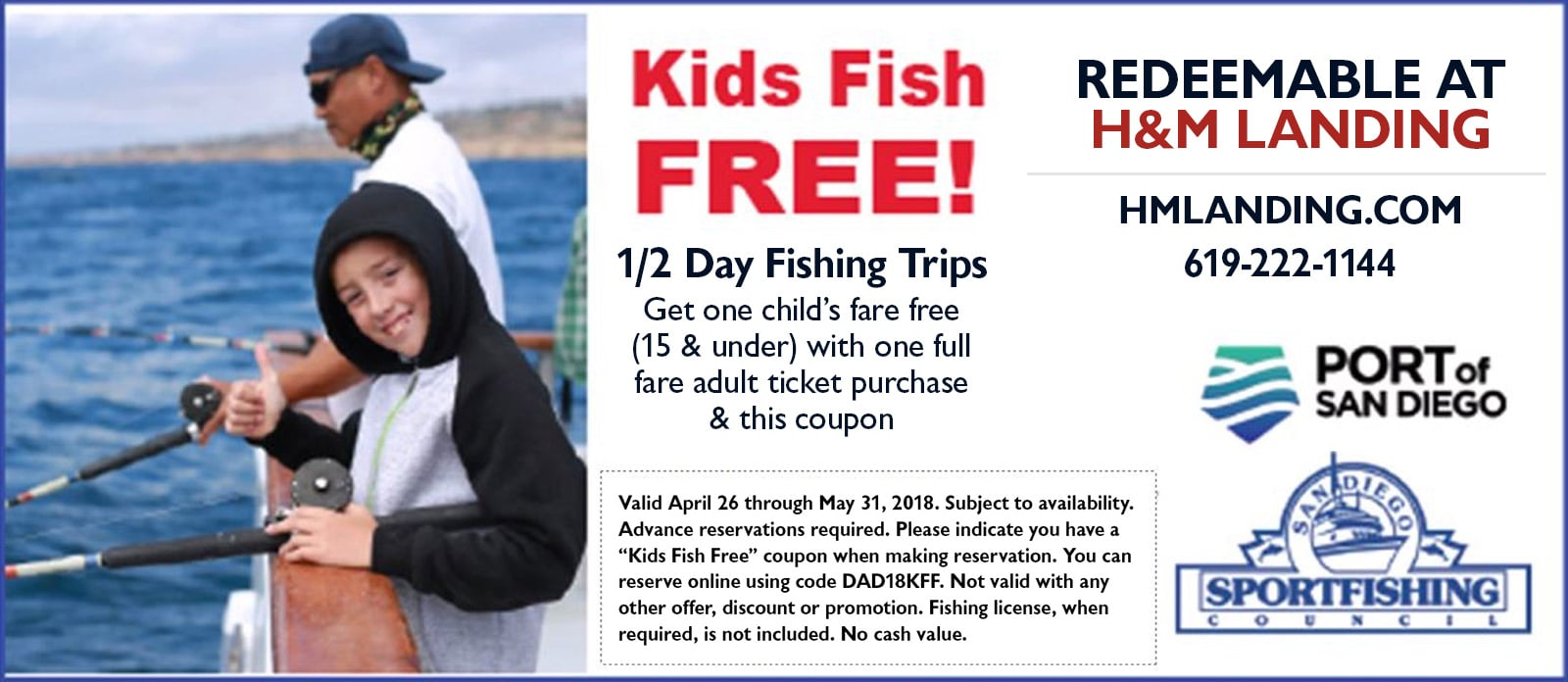 Kids Fish Free in May at H&M landing
